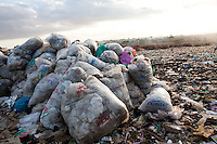 International airline garbage is recylced in the municpal dum at dandora estate in Nairobi, Kenya.
