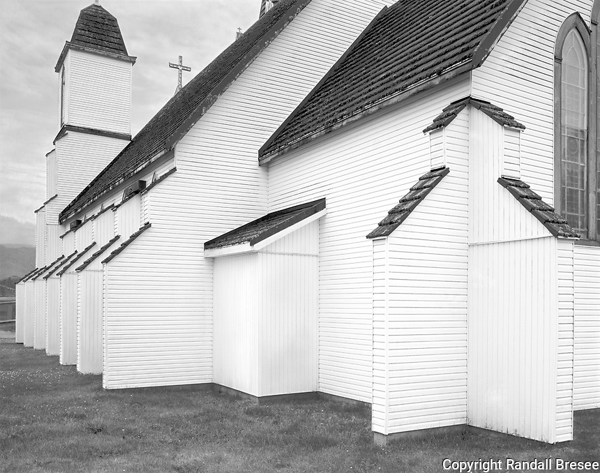 """""""Christ Church"""" <br /> Gingolx, British Columbia, Canada<br /> <br /> Gingolx, one of four villages of the Nisga'a Nation, is located in western British Columbia near the Alaska panhandle. Christ Church was built in 1900 and this photo shows some of its marvelous structural details."""
