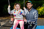 Fiadh and her dad Cathal White enjoying the playground in the Killarney National Park on Sunday.