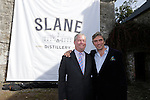 "Brown-Forman executive vice president and chief brands & strategy officer Lawson Whiting and Alex Conyngham, Earl of Mount Charles unveiling the new Slane Whiskey logoat the ground breaking for the new $50 Million Slane Distillery on the grounds of Slane Castle.<br /> Picture Fran Caffrey /Newsfile.ie<br /> <br /> BROWN-FORMAN BREAKS GROUND ON<br /> NEW $50 MILLION SLANE DISTILLERY<br /> <br /> US Ambassador joins Conyngham and Brown families for historic occasion<br /> <br /> Distillery and Visitor Centre to be completed late 2016<br /> <br /> The US Ambassador to Ireland, Kevin F. O'Malley, was guest of honour today at the official ground breaking ceremony for the $50 million (approximately €44 million) Slane Distillery on the historic Slane Castle Estate in Co. Meath, home of Henry Conyngham, the eighth Marquess Conyngham, and his son Alex Conyngham, Earl of Mount Charles.<br />  <br /> The distillery, which will also include a Visitor Centre, is being built by leading US Drinks firm Brown-Forman Corporation, the owners of Jack Daniel's, Southern Comfort and Woodford Reserve which bought all shares of Slane Irish Whiskey Company from the Conyngham family earlier this year.  The Conynghams remain centrally involved in the development of the new distillery and the new whiskey brands which will be introduced in early 2017. <br />  <br /> This is the first new distillery Brown-Forman has built outside of the US and represents its entry into distilling Irish whiskey, one of the fastest growing spirits categories over the last few years.  When completed by the end of 2016, Slane Distillery will create nearly 25 new full-time jobs while the construction process will support approximately 80 jobs.  The Slane Distillery and Visitor Centre will be a welcome new attraction to the Boyne Valley tourism trail.<br />  <br /> The US Ambassador signed the first cask that will be filled with whiskey from the distillery and commented on the significance of the occasion, ""There are so many links between Ireland and the great state of Kentucky – people, music, horses"