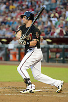 Arizona Diamondbacks third baseman Matt Davidson (24) during a game against the Washington Nationals at Chase Field on September 28, 2013 in Phoenix, Arizona.  Washington defeated Arizona 2-0.  (Mike Janes/Four Seam Images)