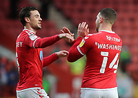Conor Washington celebrates scoring Charlton's opening goal with Jake Forster-Caskey during Charlton Athletic vs AFC Wimbledon, Sky Bet EFL League 1 Football at The Valley on 12th December 2020