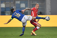 Francesco Acerbi of Italy during the Uefa Nation League Group Stage A1 football match between Italy and Poland at Citta del Tricolore Stadium in Reggio Emilia (Italy), November, 15, 2020. Photo Andrea Staccioli / Insidefoto