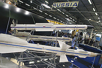 - stand of the Russian state company Toropov Vympel: military equipment, weapons and missiles....- stand della societ? russa Toropov Vympel, equipaggiamenti militari, armamenti e missili