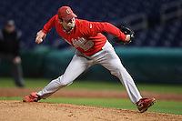 February 27, 2010:  Pitcher Jared Strayer of the Ohio State Buckeyes during the Big East/Big 10 Challenge at Bright House Field in Clearwater, FL.  Photo By Mike Janes/Four Seam Images