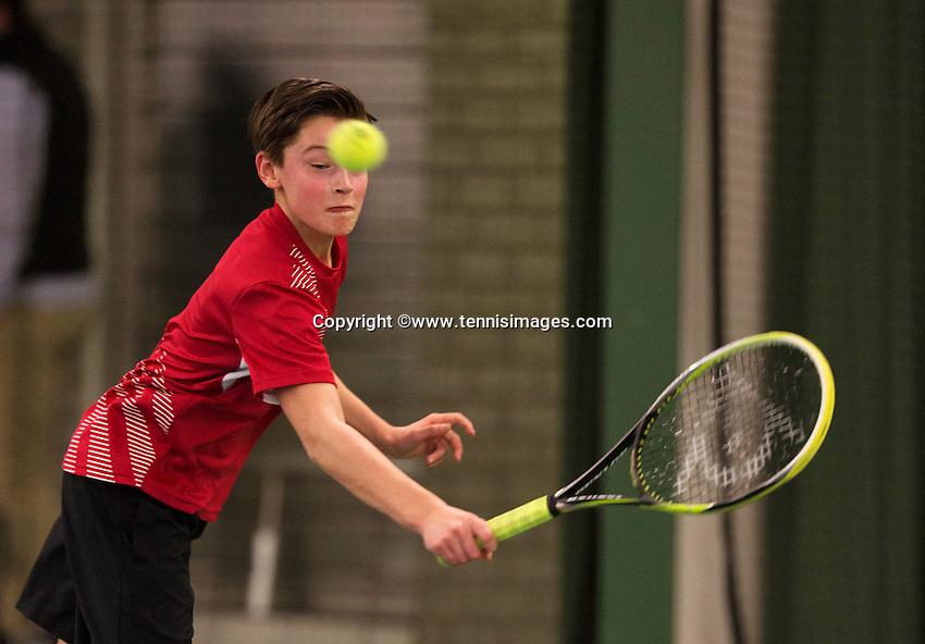 Rotterdam, The Netherlands, March 19, 2016,  TV Victoria, NOJK 14/18 years, Freek van Donselaar (NED)<br /> Photo: Tennisimages/Henk Koster