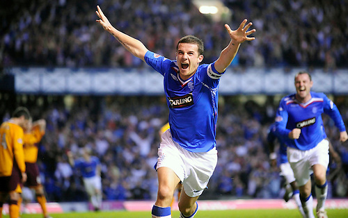 7TH MAY 2008, RANGERS V MOTHERWELL, IBROX STADIUM, GLASGOW, BARRY FERGUSON GOAL CELE, ROB CASEY PHOTOGRAPHY..