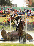 02 October 2010.  Paul Hart and Heartbreak Hill fall at #5 Salato Wildlife Center, the first of 3 water jumps in the competition.