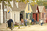 Mystic Seaport Museum of America and the Sea. Village and shops.