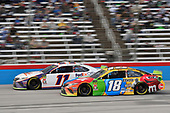 #11: Denny Hamlin, Joe Gibbs Racing, Toyota Camry FedEx Office, #18: Kyle Busch, Joe Gibbs Racing, Toyota Camry M&M's