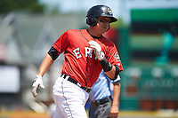 Erie Seawolves third baseman Corey Jones (24) runs the bases after hitting a home run during a game against the Altoona Curve on July 10, 2016 at Jerry Uht Park in Erie, Pennsylvania.  Altoona defeated Erie 7-3.  (Mike Janes/Four Seam Images)