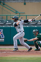 Dartmouth Big Green left fielder Ubaldo Lopez (26) bats during a game against the USF Bulls on March 17, 2019 at USF Baseball Stadium in Tampa, Florida.  USF defeated Dartmouth 4-1.  (Mike Janes/Four Seam Images)