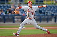 Palm Beach Cardinals relief pitcher Lee Stoppelman #47 during a game against the Charlotte Stone Crabs at Charlotte Sports Park on April 7, 2013 in Port Charlotte, Florida.  Palm Beach defeated Charlotte 8-1.  (Mike Janes/Four Seam Images)