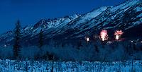 Eagler River Alaska, midnight on New Years eve.