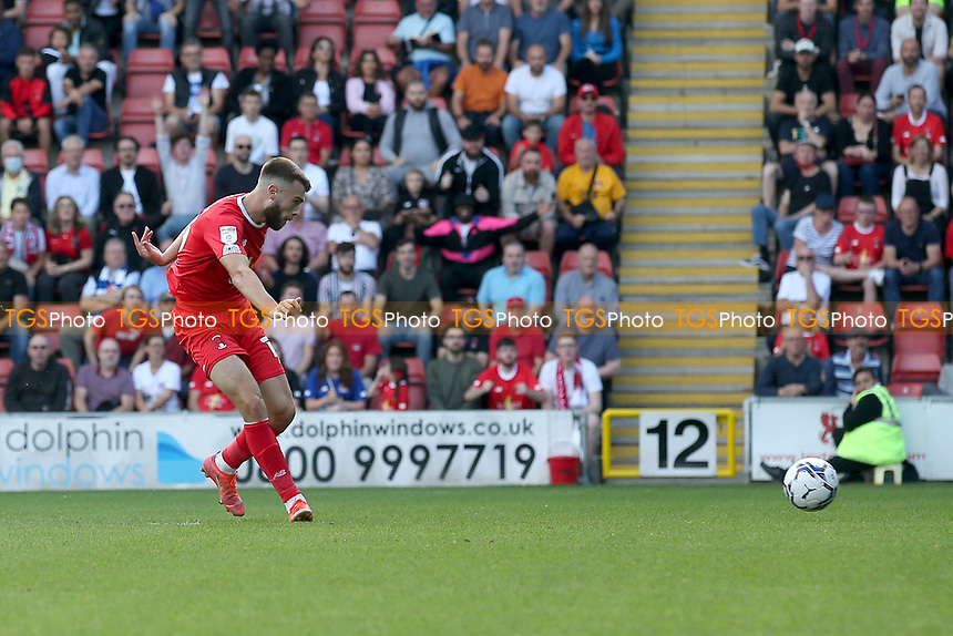 Aaron Drinan of Leyton Orient scores the first goal for his team during Leyton Orient vs Oldham Athletic, Sky Bet EFL League 2 Football at The Breyer Group Stadium on 11th September 2021