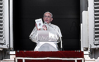 Pope Francis Angelus the apostolic palace at St Peter's square.October 5, 2014