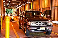 Auto inspection station, New Jersey, USA