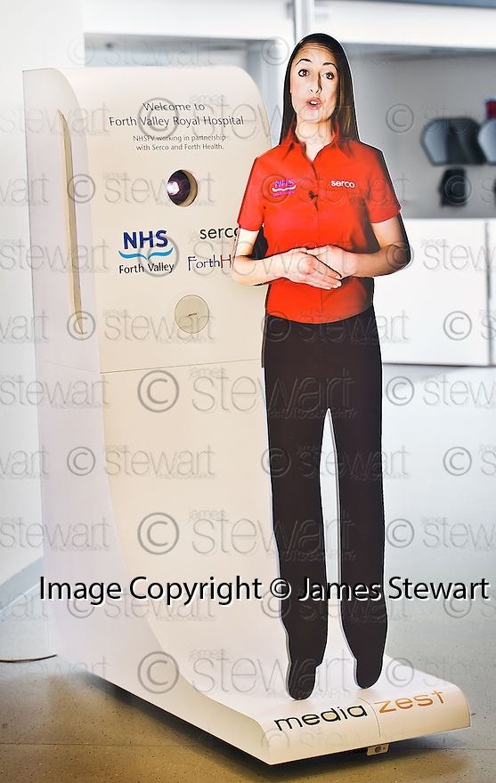 EVA, the Electronic Virtual Assistant at  Forth Valley Royal Hospital in Larbert.