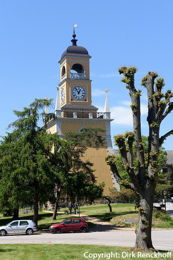 Glockenturm im Admiralitätspark, Karlskrona, Provinz Blekinge, Schweden, Europa, UNESCO-Weltkulturerbe<br /> Belltower in admirality park  in Karlskrona, Province Blekinge, Sweden