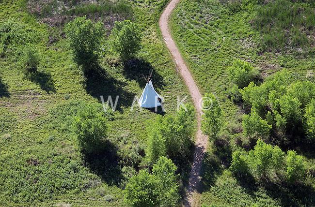 TeePee at Bent's Fort, LaJunta, Colorado. July 2014. 86540