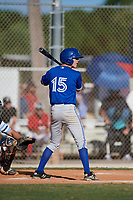 Jag Burden during the WWBA World Championship at the Roger Dean Complex on October 19, 2018 in Jupiter, Florida.  Jag Burden is an outfielder from Huntington Beach, California who attends Huntington Beach High School.  (Mike Janes/Four Seam Images)