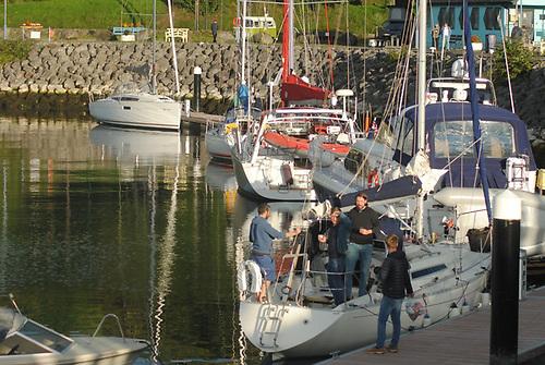 The Glenarm Chalenge fleet in Glenarm Marina