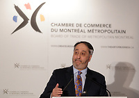 Michel Patry,Director, Ecoles des Hautes Etudes  Commerciales, speak before the Montreal Metropolitan  Board of Trade,Tuesday April 12, 2016.<br /> <br /> Photo : Pierre Roussel<br /> <br /> <br /> <br /> <br /> <br /> <br /> <br /> <br /> <br /> <br /> <br /> .