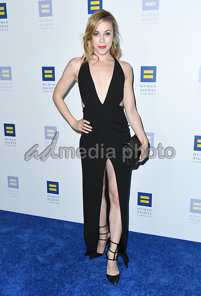 10 March 2018 - Los Angeles, California - Ashely Warner. The Human Rights Campaign 2018 Los Angeles Dinner held at JW Marriott LA Live. Photo Credit: Birdie Thompson/AdMedia