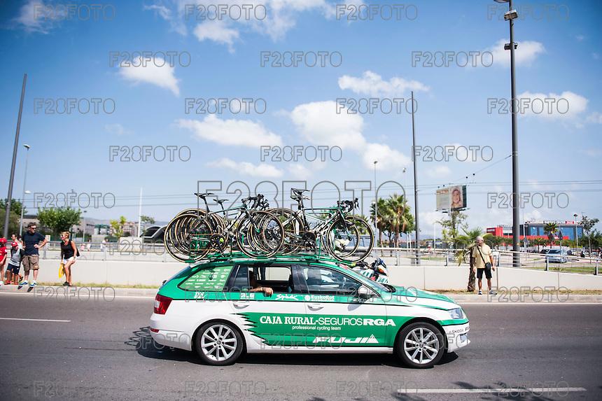 Castellon, SPAIN - SEPTEMBER 7: Caja Rural car during LA Vuelta 2016 on September 7, 2016 in Castellon, Spain
