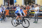 Guillaume Boivin (CAN) Israel Cycling Academy at sign on before the start of the 99th edition of Milan-Turin 2018, running 200km from Magenta Milan to Superga Basilica Turin, Italy. 10th October 2018.<br /> Picture: Eoin Clarke | Cyclefile<br /> <br /> <br /> All photos usage must carry mandatory copyright credit (© Cyclefile | Eoin Clarke)