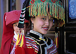 Girls in Yunnan minority dress, China