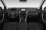 Stock photo of straight dashboard view of a 2018 Mitsubishi Eclipse Cross Style 5 Door SUV