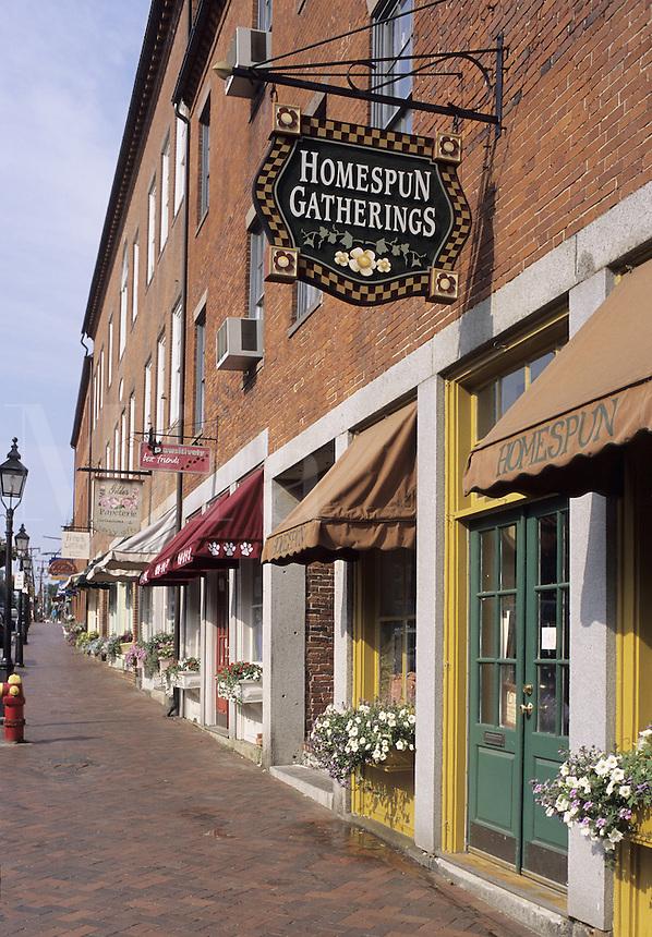 State Street, Newburyport, Mass..Tidy shops on State St.