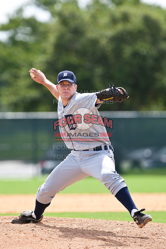 Jeff Barfield of the Gulf Coast League Tigers during the game against the Gulf Coast League Braves July 3 2010 at the Disney Wide World of Sports in Orlando, Florida.  Photo By Scott Jontes/Four Seam Images