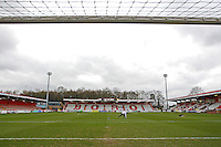 General view of the ground ahead of the kick-off during Stevenage vs Crawley Town, Sky Bet League 2 Football at the Lamex Stadium, Stevenage, England on 06/02/2016
