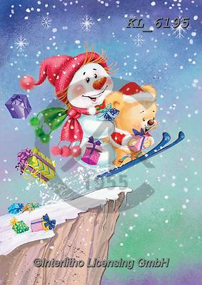 CHRISTMAS ANIMALS, WEIHNACHTEN TIERE, NAVIDAD ANIMALES, paintings+++++,KL6195,#xa#