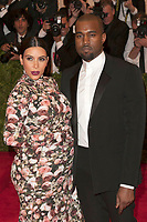 NEW YORK, NY - May 6: Kim Kardashian and Kanye West  attend the Costume Institute Gala for the 'PUNK: Chaos to Couture' exhibition at the Metropolitan Museum of Art on May 6, 2013 in New York City. <br /> CAP/MPI99<br /> ©MPI99/Capital Pictures