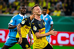 09.08.2019, Merkur Spiel-Arena, Düsseldorf, GER, DFB Pokal, 1. Hauptrunde, KFC Uerdingen vs Borussia Dortmund , DFB REGULATIONS PROHIBIT ANY USE OF PHOTOGRAPHS AS IMAGE SEQUENCES AND/OR QUASI-VIDEO<br /> <br /> im Bild | picture shows:<br /> Marco Reus (Borussia Dortmund #11) enttaeuscht nach guter Moeglichkeit, <br /> <br /> Foto © nordphoto / Rauch