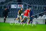 Gavin White, Kerry in action against Sean Meehan, Cork, during the Munster GAA Football Senior Championship Semi-Final match between Cork and Kerry at Páirc Uí Chaoimh in Cork.