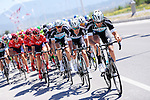 Etixx-Quick Step on the front of the peloton during Stage 5 of the 2015 Presidential Tour of Turkey running 159.9km from Mugla to Pamukkale. 30th April 2015.<br /> Photo: Tour of Turkey/Mario Stiehl/www.newsfile.ie