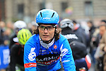 Johan Van Summeren (BEL) Garmin Sharp at the sign on before the start of the 104th edition of the Milan-San Remo cycle race at Castello Sforzesco in Milan, 17th March 2013 (Photo by Eoin Clarke 2013)
