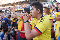 Santa Clara, CA - Friday June 3, 2016: A Colombia fan waits for a penalty kick. USA played Colombia in the opening match of the Copa América Centenario game at Levi's Stadium.