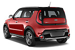Car pictures of rear three quarter view of 2015 KIA Soul Max 5 Door Hatchback angular rear