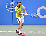 August 1,2019:  Marin Cilic (CRO) defeated Felix Auger-Aliassime (CAN) 6-3, 6-4, at the CitiOpen being played at Rock Creek Park Tennis Center in Washington, DC, .  ©Leslie Billman/Tennisclix