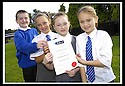06/09/2007       Copyright Pic: James Stewart.File Name : sp_jspa04_weather_comp.SCOTTISH POWER : ROYAL METEOROLOGICAL SOCIETY : 2007 SCHOOLS WEATHER COMPETITION. .THE PUPILS FROM KING'S OAK PRIMARY SCHOOL, GREENOCK, WITH THEIR CERTIFICATE  AFTER THEY WON THE ROYAL METEOROLOGICAL SOCIETY'S, 2007 SCHOOLS WEATHER COMPETITION, SPONSORED BY SCOTTISH POWER... THE PUPILS ARE LtoR KYLE LINDSAY (10), REBECCA KEMP (10), SEONAID MCLAUGHLAN (9),  AND JENNA HOLMES (10).....James Stewart Photo Agency 19 Carronlea Drive, Falkirk. FK2 8DN      Vat Reg No. 607 6932 25.Office     : +44 (0)1324 570906     .Mobile   : +44 (0)7721 416997.Fax         : +44 (0)1324 570906.E-mail  :  jim@jspa.co.uk.If you require further information then contact Jim Stewart on any of the numbers above........