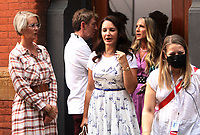 NEW YORK, NY - July 20: Sarah Jessica Parker, Kristin Davis, Cynthia Nixon and Michael Patrick King on the set of the HBOMax Sex and the City reboot series And Just Like That on July 20, 2021 in New York City. <br /> CAP/MPI/RW<br /> ©RW/MPI/Capital Pictures
