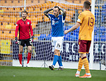 St Johnstone v Motherwell…28.09.19   McDiarmid Park   SPFL<br />Stevie May reacts after mssing a chance<br />Picture by Graeme Hart.<br />Copyright Perthshire Picture Agency<br />Tel: 01738 623350  Mobile: 07990 594431