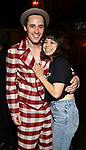 """Reeve Carney and Eva Noblezada during the Actors' Equity Legacy Robe Ceremony honoring T. Oliver Reid for  """"Hadestown"""" at the Walter Kerr Theatre on April 17, 2019  in New York City."""