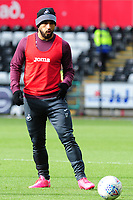 Cameron Carter-Vickers of Swansea City during the pre-match warm-up for the Sky Bet Championship match between Swansea City and Reading at the Liberty Stadium in Swansea, Wales, UK. 27th October, 2018