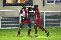 Boakye-Yiamdom of Clapton scores the second goal for his team and celebrates during Redbridge vs Clapton, Essex Senior League Football at Oakside Stadium on 31st January 2020